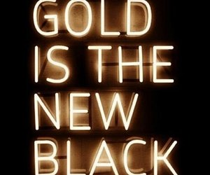gold, black, and neon image