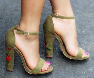 high heels, platform, and shoes sandals image