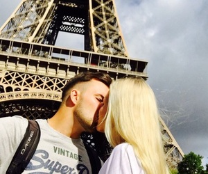 blonde, couple, and hair image