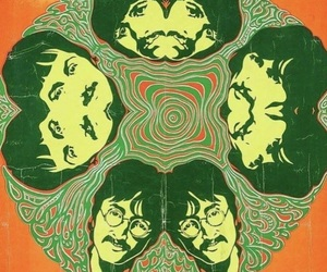 the beatles, psychedelic, and pink image