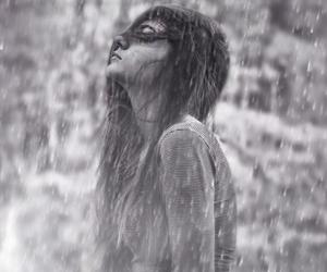 rain, girl, and alone image