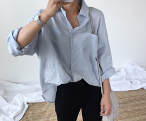 button down shirt, minimal, and casual image