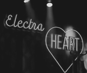 electra heart, light, and neon image
