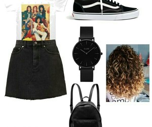 casual, ootd, and curly hair image