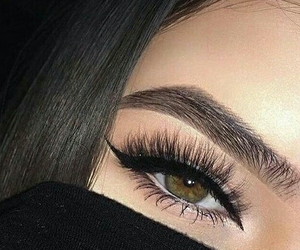 article, eyes, and makeup image