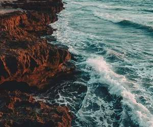 landscape, nature, and waves image