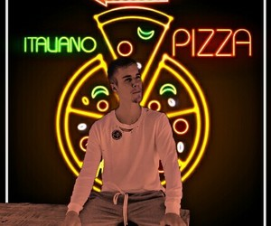 light, neon, and justin bieber image