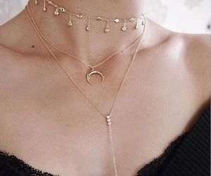 fashion, mode, and necklace image