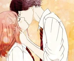 anime, ao haru ride, and kiss image