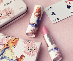 lipstick, alice, and alice in wonderland image