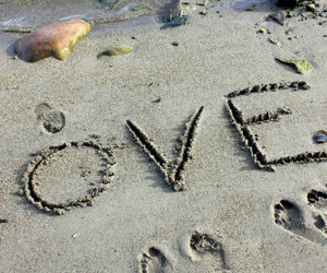 amazing, beach, and Letter image