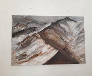 art, mountains, and himalaya image
