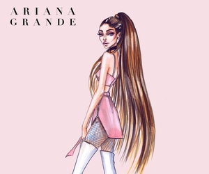 fan art, fashion illustration, and ariana grande image
