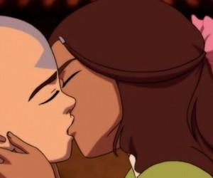 avatar, kiss, and aang image