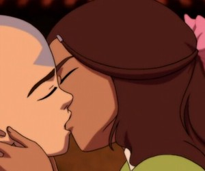avatar, kiss, and aang image