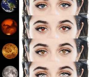 art, eyes, and girl image