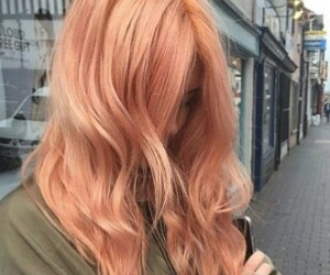 coral, hair, and cabello image