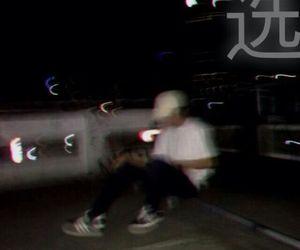 blurry, dark, and boy image