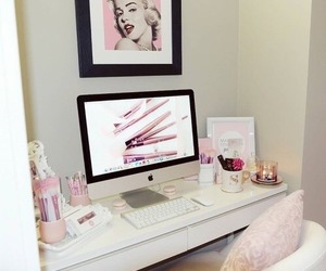 pink, interior, and girly image