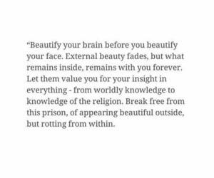 advice, beauty, and brain image