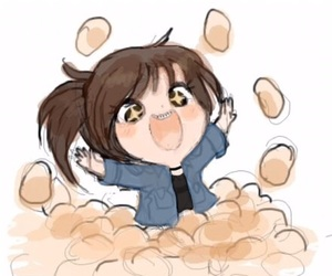 attack on titan, potato, and snk image