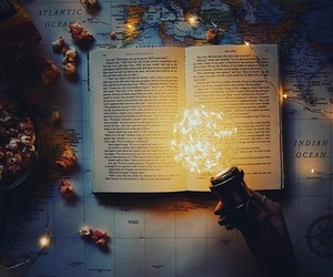 book, adventure, and lights image