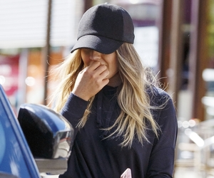 cap, street style, and sweater image