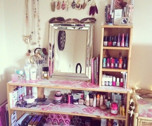 beauty, organization, and bedroom image