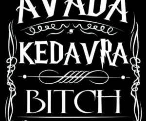 harry potter, avada kedavra, and bitch image