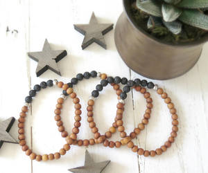 bracelet, natural, and lava stone image
