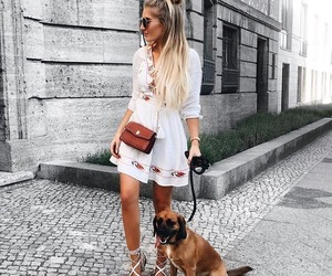 girl, style, and blonde image