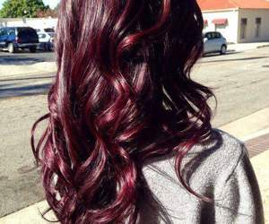 hair, red, and burgundy image