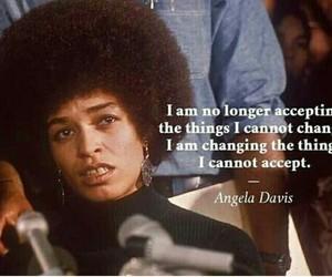 quotes, angela davis, and feminism image