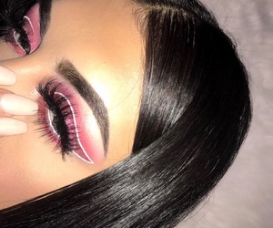 pretty, makeup, and pink image
