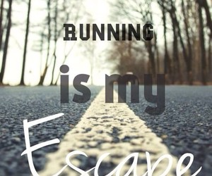 running, escape, and run image