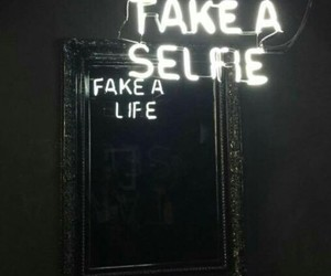 selfie, mirror, and fake image