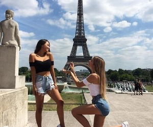 blond, city, and friendship image