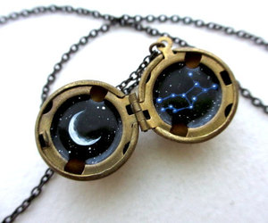 astrology, galaxy, and necklace image