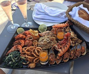 food, seafood, and yummy image