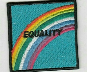 equality, patch, and rainbow image