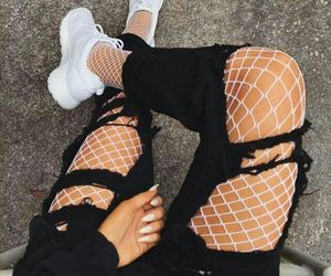 Chica, fishnet, and girl image