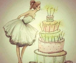 birthday, cake, and drawing image