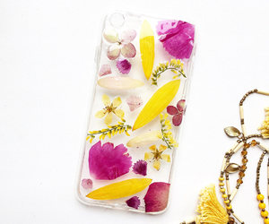 etsy, flower case, and pink phone case image