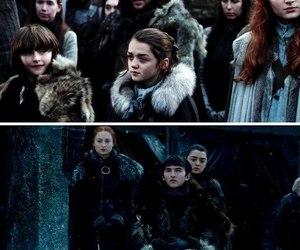 arya stark, game of thrones, and bran stark image