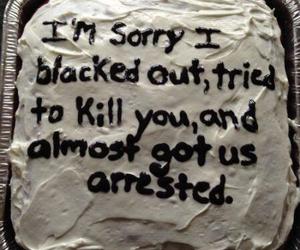 cake, funny, and grunge image