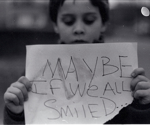 smile, boy, and text image