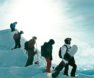 snow, snowboard, and point break image