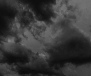 b&w, black&white, and clouds image
