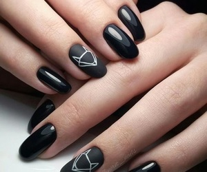 nails, fox, and black image