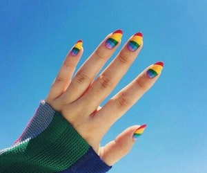 azul, nails, and pride image